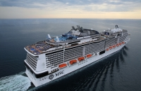 MSC Meraviglia's maiden voyage provided guests with 300 Mbps of bandwidth