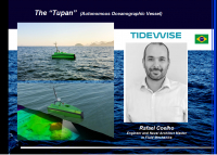 The Tupan is an autonomous vessel. Pictured speaking on the webinar is engineer and naval architect from Tidewise, Rafael Coelho. Image courtesy of Tidewise