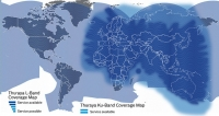 Thuraya L-band global coverage map