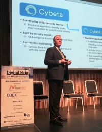 Fredrik Munck, business development executive at Cybeta speaking at Digital Ship's CIO forum in Bergen last year