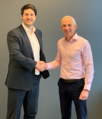 Left to right: Nicholas Bourque, president of Marine Press and Martin Taylor, chief executive officer of ChartCo