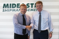 Robert Houston, president, Mideast and Marorka's Middle East regional director Georg Haraldsson at the signing