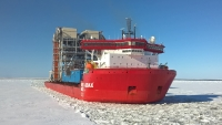 Audax, sailing in ice. Photo: Red Box Energy Services